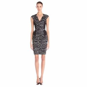 French Connection women's tapir wave V-neck dress